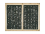 Leaves 43 and 44, from Wang Xizhi Book One, 'Calligraphy of Ancient Masters of Various Periods',… Giclee Print by Ming Dynasty Chinese School