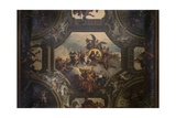 Ceiling of the Upper Hall in the Painted Hall, C.1707-27 Giclee Print by Sir James Thornhill