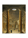 The Interior of the Pantheon, Rome, Looking North from the Main Altar to the Entrance, 1732 Giclee Print by Giovanni Paolo Pannini