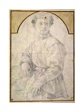 A Seated Youth Wearing a Cap Giclee Print by Jacopo Pontormo
