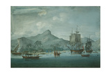 View of Huaheine Giclee Print by John the Younger Cleveley