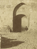 Photographic Views in the Holy Land: the Lions' Gate, Jerusalem, 1855-57 Photographic Print by Mendel John Diness