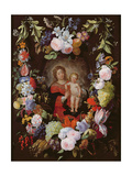 The Virgin and Child with a Garland of Flowers Giclee Print by  Gerard Seghers and Frans Ykens