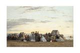 Beach Scene, 1865 Giclee Print by Eugene Louis Boudin