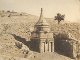 Photographic Views in the Holy Land: the Tomb of Absalom, 1855-57 Photographic Print by Mendel John Diness