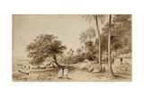 Broom Road, Tahiti, Society Islands, 1869 Giclee Print by Nicholas Chevalier