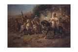 Arab Horsemen by a Fountain Giclee Print by Adolf Schreyer