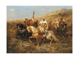 A Regal Procession Giclee Print by Adolf Schreyer