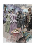 Platform at a Railway Station, Late 19th Century Giclee Print by Ludovico Marchetti