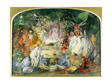 The Original Sketch for the Fairy's Banquet Giclee Print by John Anster Fitzgerald