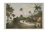 The House of the Tamaha, Moua, Tonga, 1830 Giclee Print by Louis Auguste de Sainson