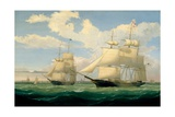 The Ships 'Winged Arrow' and 'Southern Cross' in Boston Harbour, 1853 Giclee Print by Fitz Henry Lane