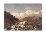 Koenigspitze-Tirol, 1877 Giclee Print by Franz Richard Unterberger