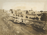 Photographic Views in the Holy Land: the Walls of Jerusalem, 1855-57 Photographic Print by Mendel John Diness