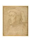 Bust of a Man Wearing a Chaperon Giclee Print by Lorenzo di Credi
