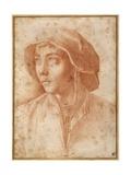 Bust Portrait of a Boy Wearing a Cap Giclée-tryk af Francesco De Rossi Salviati Cecchino