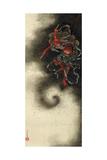 Thunder God, Edo Period, 1847 Wydruk giclee autor Katsushika Hokusai