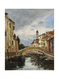 A Small Venetian Canal, 1895 Giclee Print by Eugène Boudin