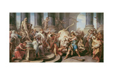 Theseus Conquering the Bull at Marathon, 1732-34 Giclee Print by Carle van Loo