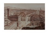 View of Piazza Di San Firenze and Piazza Santa Croce, Florence Giclee Print by Giuseppe and Sanesi, Nicola Poggi