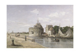 The Tower of Francis I at Le Havre, C.1854 Giclee Print by Eugène Boudin