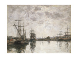 The Basin at Deauville, 1890 Giclee Print by Eugene Louis Boudin