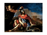 Mars with Cupid, 1649 Giclee Print by  Guercino (Giovanni Francesco Barbieri)