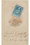 Signature and Photographer's Imprint, 1865 Photographic Print by Boston Corbett