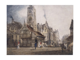 View of a Market Square, C.1832 Giclee Print by Thomas Shotter Boys