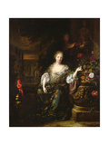 Woman Sitting in a Park, 1688 Giclee Print by Jan Weenix