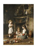 Blowing Bubbles Giclee Print by Alexei Alexevich Harlamoff