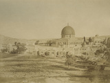 Photographic Views in the Holy Land: Temple Mount, 1855-57 Photographic Print by Mendel John Diness