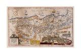 Terra Sanctae Qua Promissionis Terra..., 1578 Giclee Print by Gerard De Jode