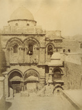Photographic Views in the Holy Land: Facade of the Church of the Holy Sepulchre, 1855-57 Photographic Print by Mendel John Diness