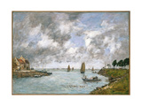 The Mouth of the River Somme, St. Valery-Sur-Somme, 1891 Giclee Print by Eugene Louis Boudin