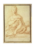 The Virgin Playing with the Child on Her Lap Giclee Print by  Parmigianino