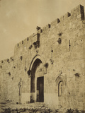 Photographic Views in the Holy Land: Zion Gate, Jerusalem, 1855-57 Photographic Print by Mendel John Diness
