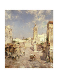 Figures in a Moorish Town Giclee Print by Franz Richard Unterberger
