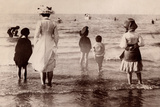 Family at the Beach, 1890 Photographic Print