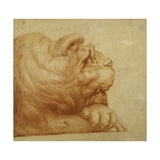 A Lion's Head in Profile Giclee Print by Francesco De Rossi Salviati Cecchino