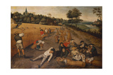 Summer: Harvesters Working and Eating in a Cornfield, 1624 Giclee Print by Pieter Breugel the Younger