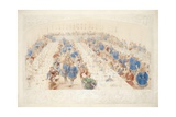 The Banquet, 1839 Giclee Print by James Henry Nixon