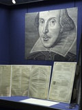 Etching of Shakespeare in the Permenant Gallery Space Photographic Print
