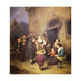 Street Musicians Giclee Print by Cornelis Bega