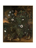 Thistles, Brambles, Poppies and Other Plants Giclee Print by Matthias Withoos