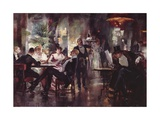 Cafe Society, 1899 Giclee Print by William Henry Pike