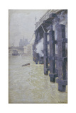 The Seine in December, 1893 Giclee Print by Fritz Thaulow