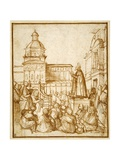 St. Mark Preaching in the Piazza Giclee Print by Lattanzio da Rimini