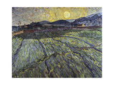 Enclosed Field with Rising Sun, 1889 Giclee Print by Vincent van Gogh
