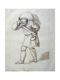 A Porter Laden Giclee Print by Inigo Jones